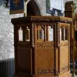 Pulpit in St. Laserian's Cathedral