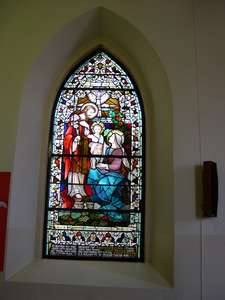 Stained glass window to the memory of Myles Keogh in St. Joseph's Catholic Church, Tinryland